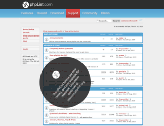 forums.phplist.com screenshot
