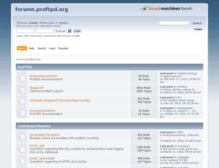 forums.proftpd.org screenshot