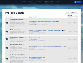 forums.projectspark.com screenshot