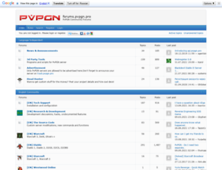 forums.pvpgn.org screenshot