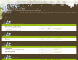 forums.reseaugrappe.org screenshot