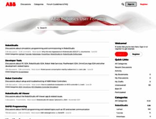forums.robotstudio.com screenshot
