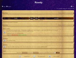 forums.rowdyinred.net screenshot