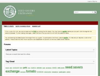 forums.seedsavers.org screenshot