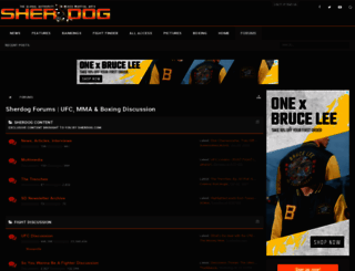 forums.sherdog.com screenshot