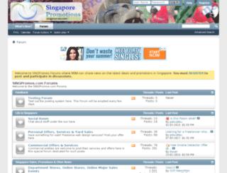 forums.singpromos.com screenshot