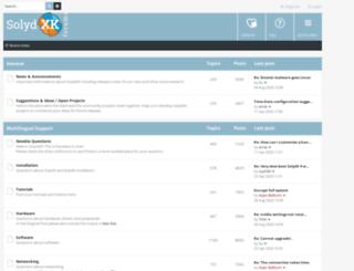 forums.solydxk.com screenshot
