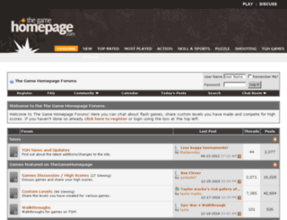 forums.thegamehomepage.com screenshot