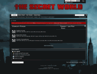 forums.thesecretworld.com screenshot
