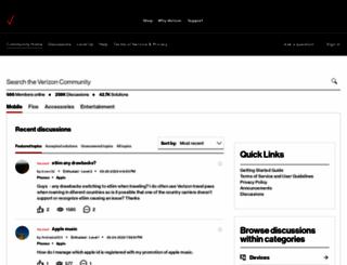 forums.verizon.com screenshot