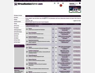 forums.virtualizationadmin.com screenshot