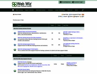 forums.webwizguide.com screenshot