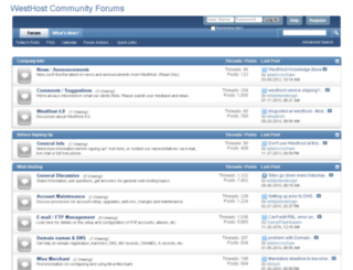 forums.westhost.com screenshot