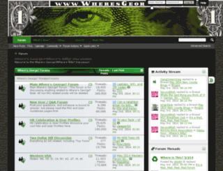 forums.wheresgeorge.com screenshot