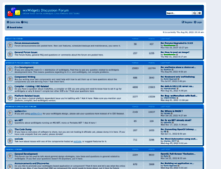 forums.wxwidgets.org screenshot