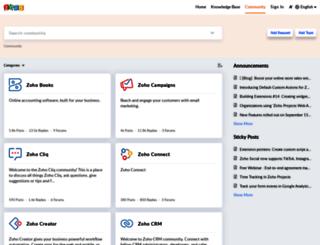 forums.zoho.com screenshot