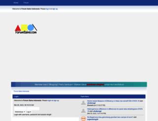 forumsains.com screenshot