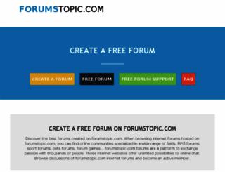 forumstopic.com screenshot
