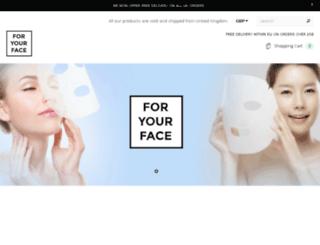 foryourface.myshopify.com screenshot