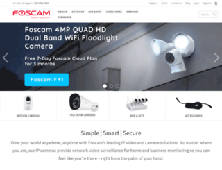 foscam.uk.com screenshot