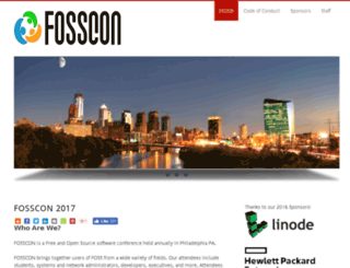 fossevents.org screenshot