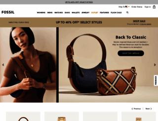 fossil.com screenshot