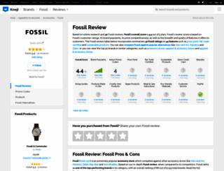 fossil.knoji.com screenshot