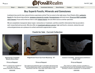 fossilrealm.com screenshot