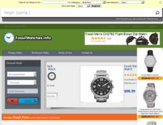 fossilwatches.info screenshot
