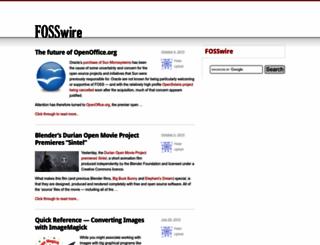 fosswire.com screenshot