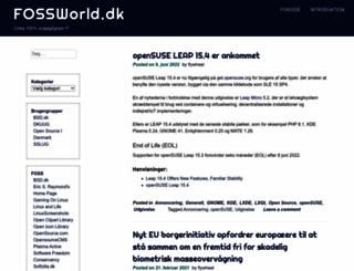 fossworld.dk screenshot