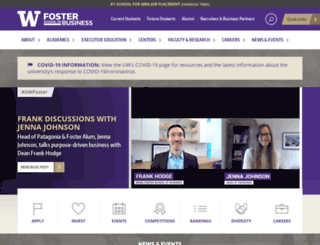 foster.washington.edu screenshot