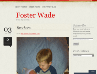 fosterwade.com screenshot