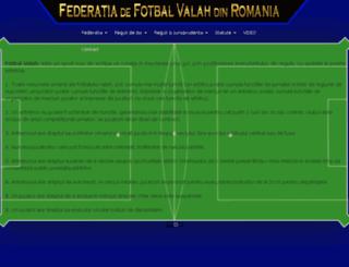 fotbal-valah.ro screenshot
