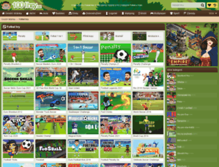 fotbal.1001hry.cz screenshot