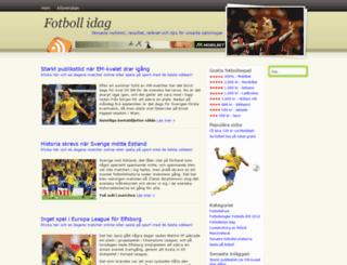 fotbollidag.com screenshot