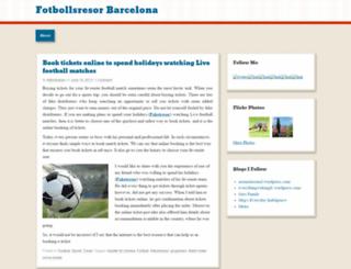fotbollsresorbarcelona.wordpress.com screenshot