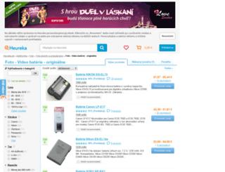 foto-video-baterie.heureka.sk screenshot