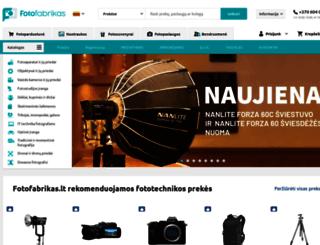fotofabrikas.lt screenshot