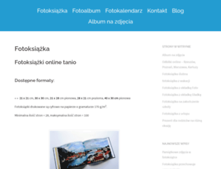 fotoksiazka.xyz screenshot