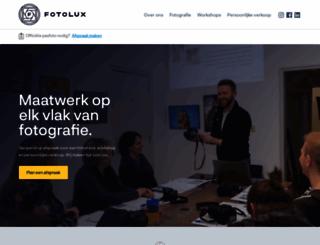 fotolux.nl screenshot