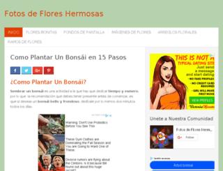 fotosdefloreshermosas.com screenshot