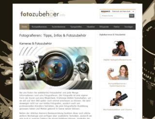 fotozubehoer.info screenshot