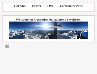 foucqueteau.ch screenshot