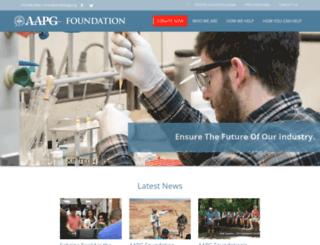 foundation.aapg.org screenshot