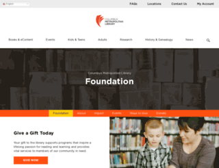 foundation.columbuslibrary.org screenshot