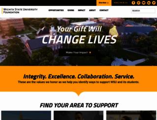 foundation.wichita.edu screenshot