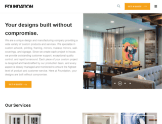 foundationartservices.com screenshot