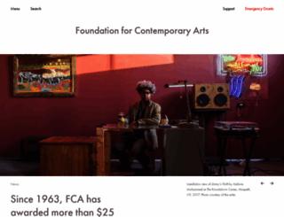 foundationforcontemporaryarts.org screenshot