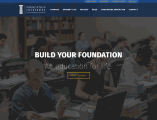 foundationinstitute.org screenshot